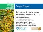 Sistema de Administración de Macro Currículos (SAMA)