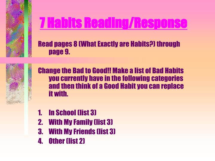 7 habits reading response n.