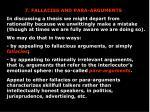 7. FALLACIES AND PARA-ARGUMENTS