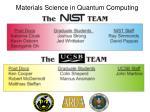 Materials Science in Quantum Computing