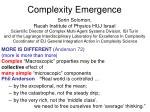 Complexity Emergence