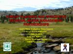 FOREST PLANNING AND INTEGRATED REGIONAL WATER MANAGEMENT PARTNERSHIPS
