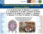 Particle and power exhaust in NBI-heated plasmas in NSTX