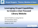 Leveraging Drupal Capabilities to Create a User-Focused Library Website