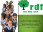 Rural Development Foundation Educate Engage Empower