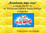 """""""Śniadanie daje moc"""" w klasie IIIa SP 12 im. Kardynała Stefana Wyszyńskiego w Rybniku"""