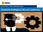 Emotional Intelligence (EI) and Leadership