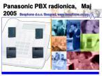 Panasonic PBX radionica, Maj 2005 Beophone d.o.o. Beograd, beophone.co.yu