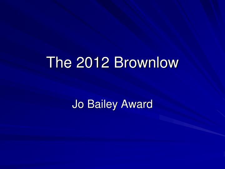 the 2012 brownlow n.