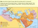 Aim: How did the Islamic Empire affect the societies which it conquered?