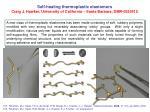 Self-healing thermoplastic elastomers