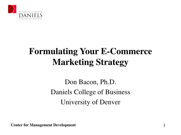 formulating your e commerce marketing strategy n.
