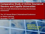 Comparative Study of Online Courses at Stevens and Capella Universities