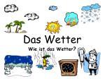 Das Wetter Wie ist das Wetter ?