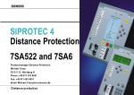 SIPROTEC 4 Distance Protection 7SA522 and 7SA6