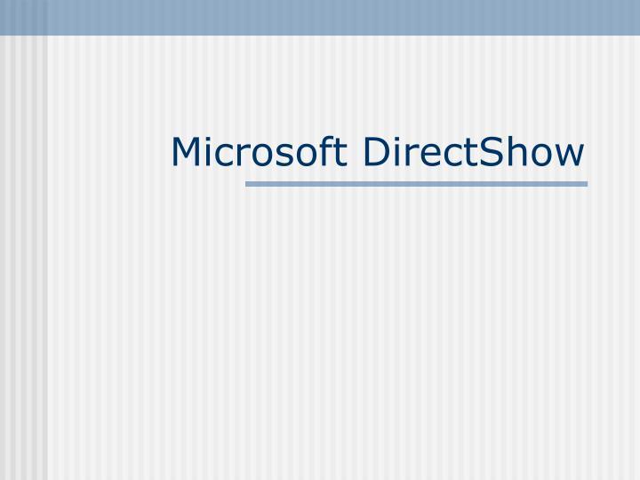 microsoft directshow n.