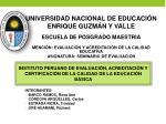 UNIVERSIDAD NACIONAL DE EDUCACIÓN ENRIQUE GUZMÁN Y VALLE ESCUELA DE POSGRADO MAESTRIA