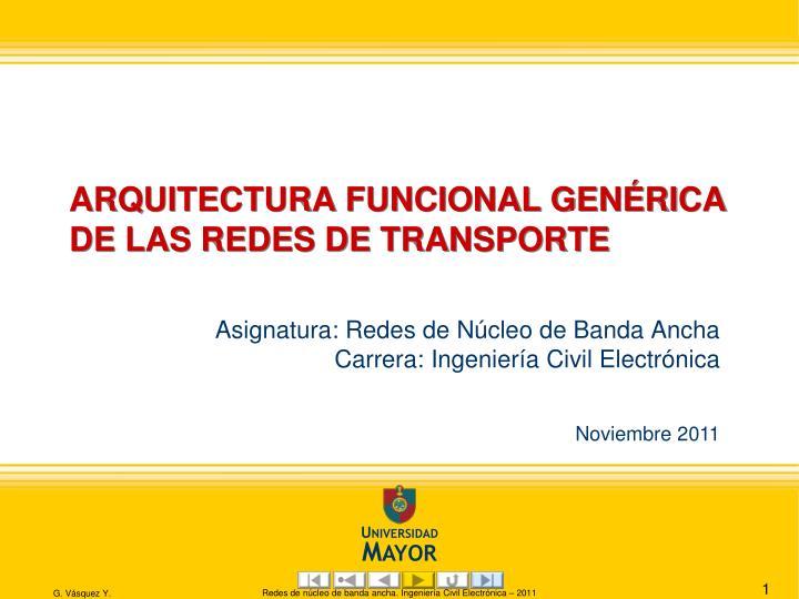 arquitectura funcional gen rica de las redes de transporte n.