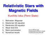Relativistic Stars with Magnetic Fields