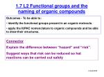 1.7 L2 Functional groups and the naming of organic compounds