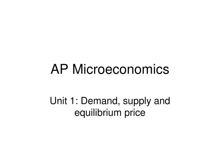 ap microeconomics n.