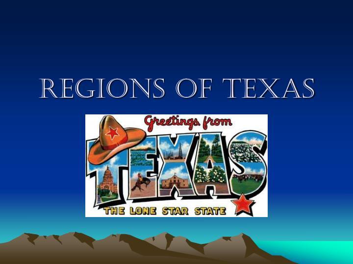 regions of texas n.