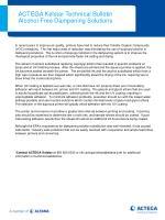 ACTEGA Kelstar Technical Bulletin Alcohol Free Dampening Solutions