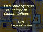 Electronic Systems Technology at Chabot College