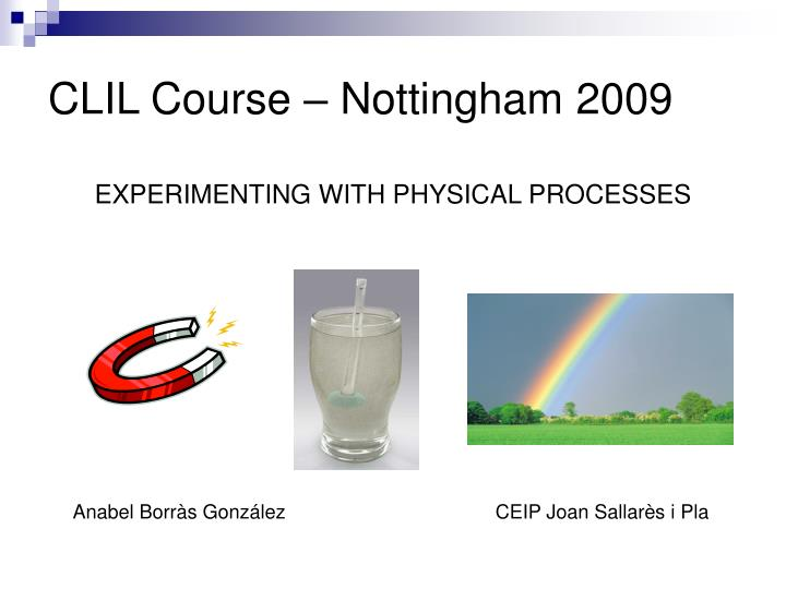 clil course nottingham 2009 n.