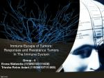 Immune Escape of Tumors: Responses and Resistance Tumors In The Immune System