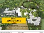 Status CBM interim MoU J. Eschke