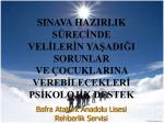 Bafra Atatürk Anadolu Lisesi Rehberlik Servisi