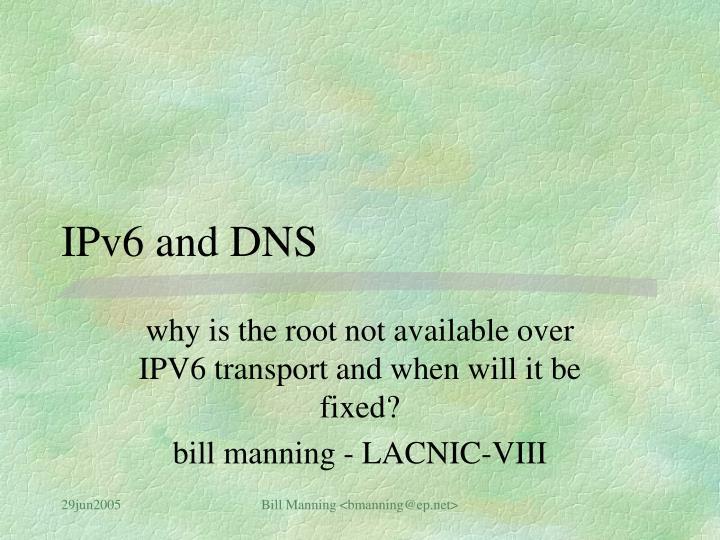 ipv6 and dns n.