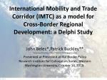 John Belec*,Patrick Buckley** *University of the Fraser Valley, **Western Washington University