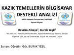 KAZIK TEMELLERİN BİLGİSAYAR DESTEKLİ ANALİZİ AB13-Akdeniz Üniversitesi/ANTALYA İnşaat Bilişimi