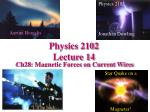 Physics 2102  Lecture 14