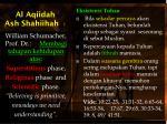 Al Aqiidah Ash Shahiihah 1