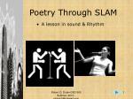 Poetry Through SLAM