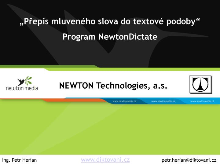 newton dictate 4 start cz download