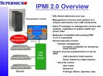 IPMI 2.0 Overview
