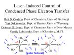 Laser–Induced Control of Condensed Phase Electron Transfer