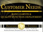 KANO, GARVIN & QUALITY FUNCTION DEPLOYMENT