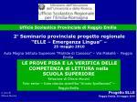 Progetto ELLE Reggio Emilia, 25 maggio 2010