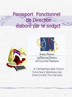 Passeport  Fonctionnel    de Direction    élaboré par le sndgct