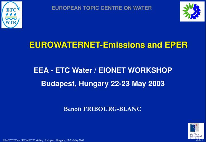 eurowaternet emissions and eper n.