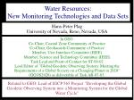 Water Resources: New Monitoring Technologies and Data Sets