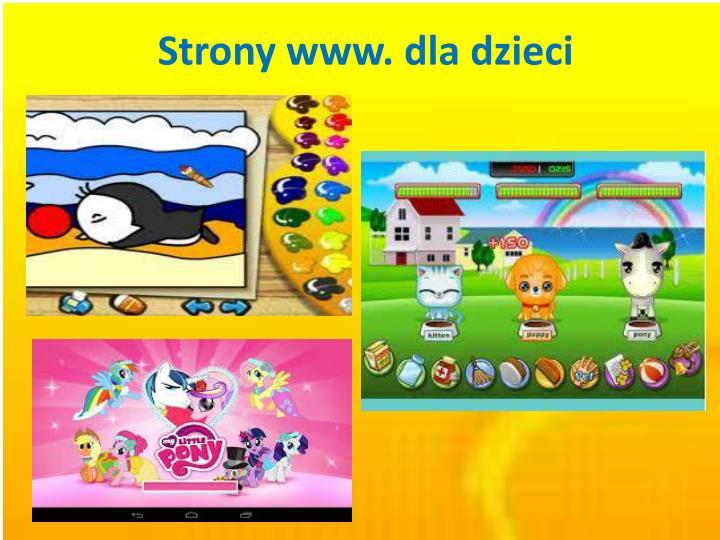 strony www d la dzieci n.