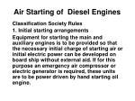 Air Starting of Diesel Engines