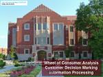 Wheel of Consumer Analysis Customer Decision Marking Information Processing