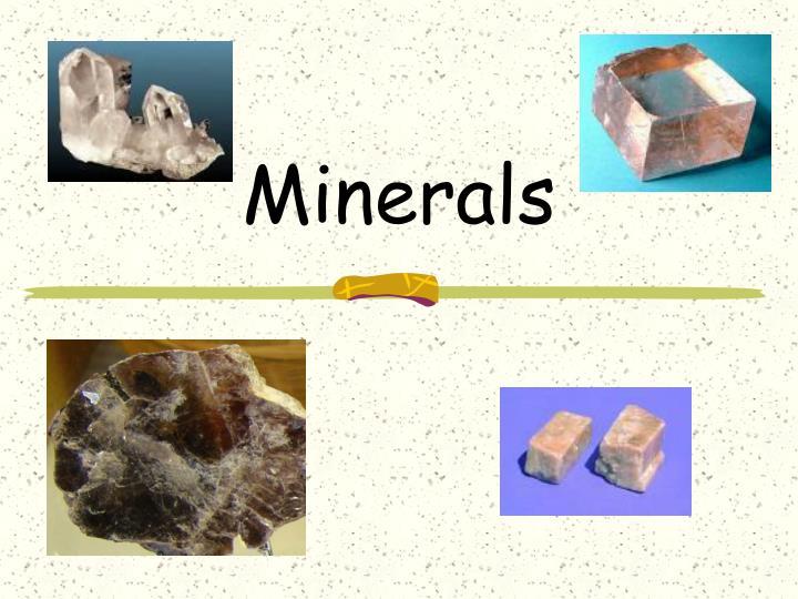 minerals n.